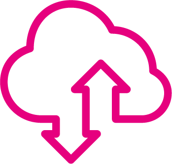 Cloud based technology icon